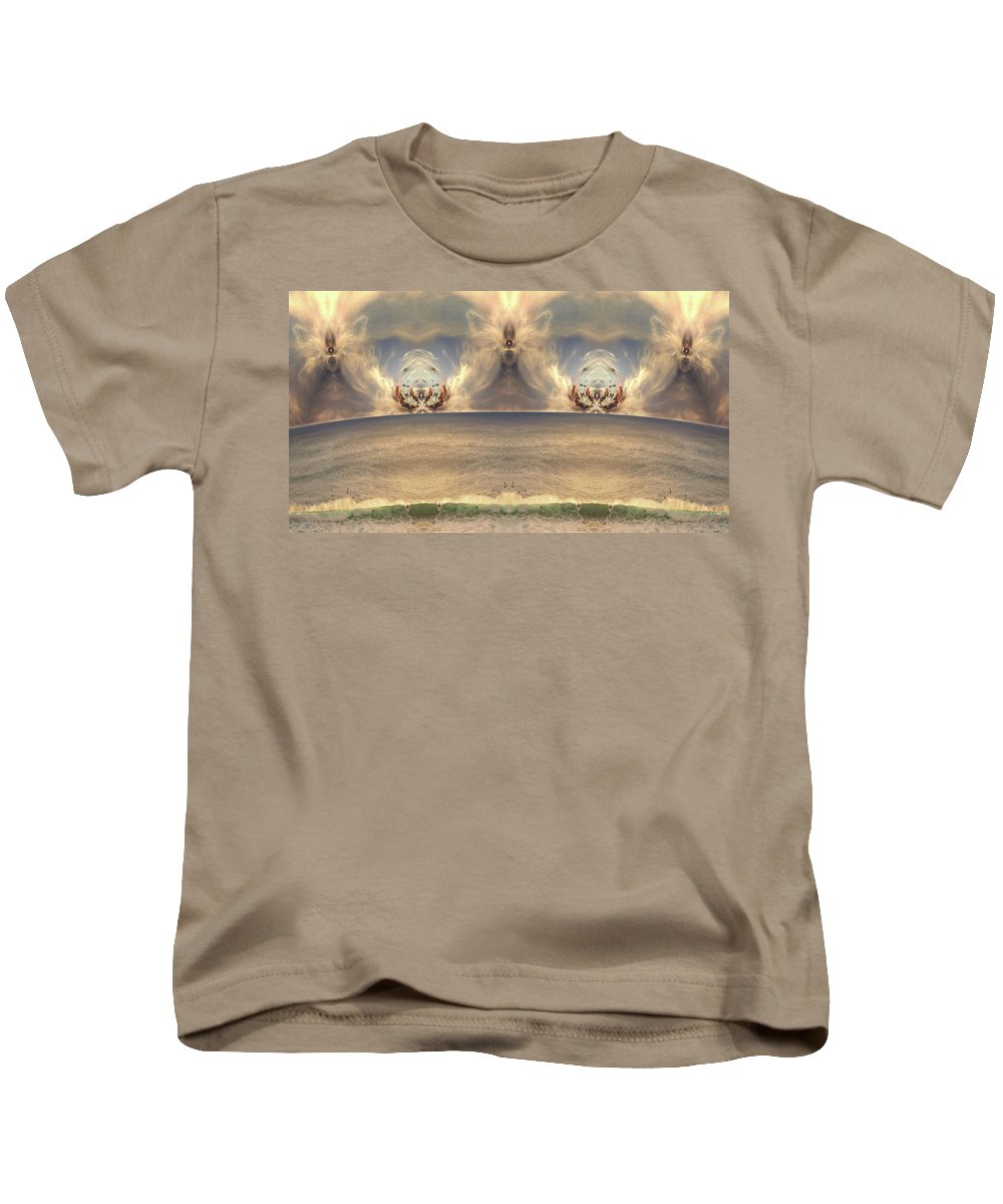 Karen Hochman Brown Kids T-Shirt featuring the photograph Winged Warrior by Karen Hochman Brown