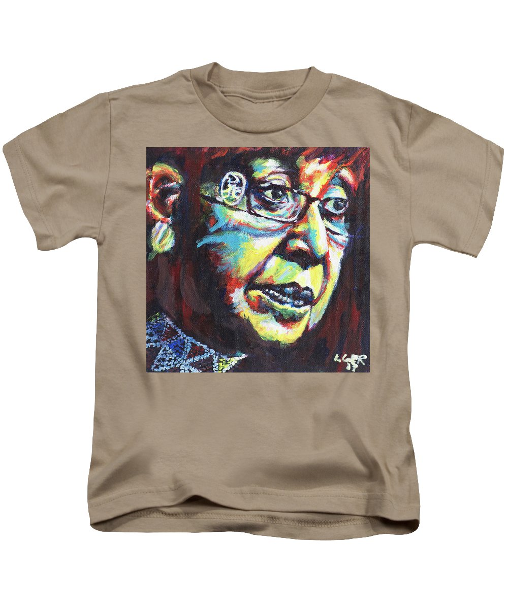 Portrait Kids T-Shirt featuring the painting Winnie by Larry Ger