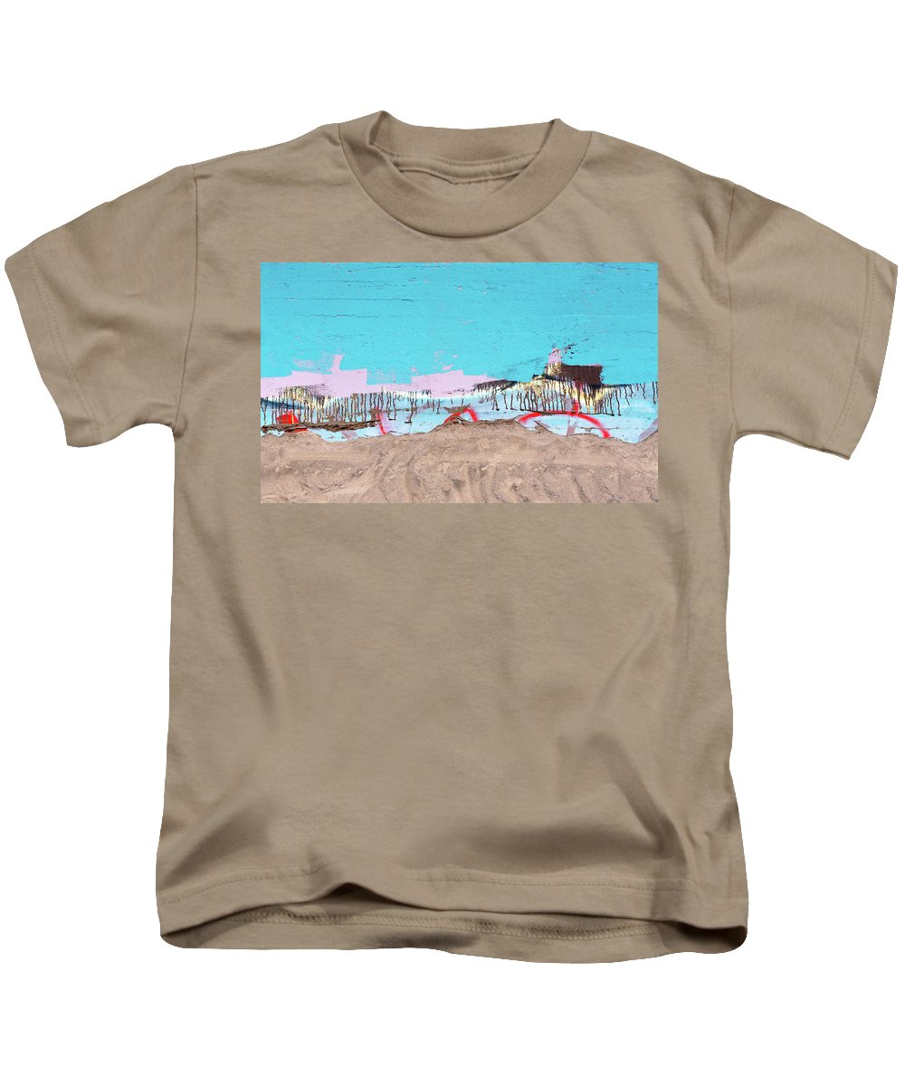 Sand Kids T-Shirt featuring the photograph The Beach In Winter by Daniel Furon