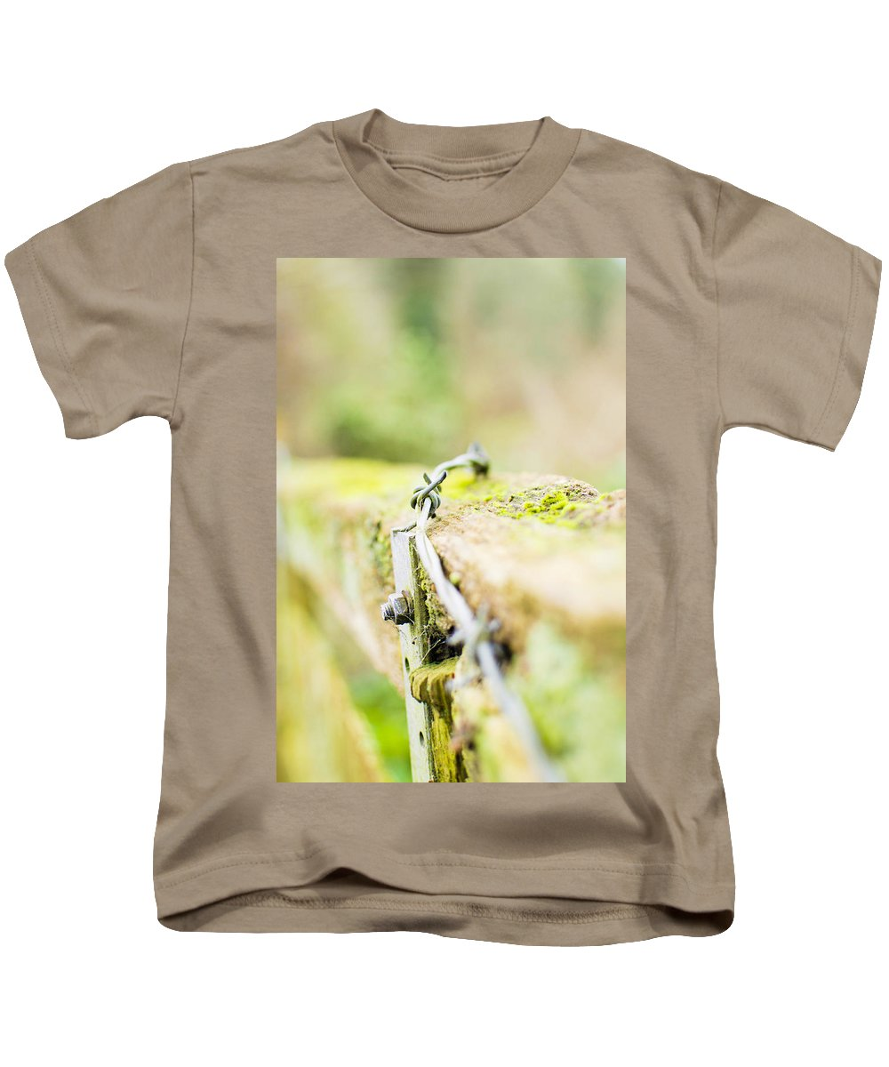 Fence Kids T-Shirt featuring the photograph Wire On The Fence by Tracy Smith