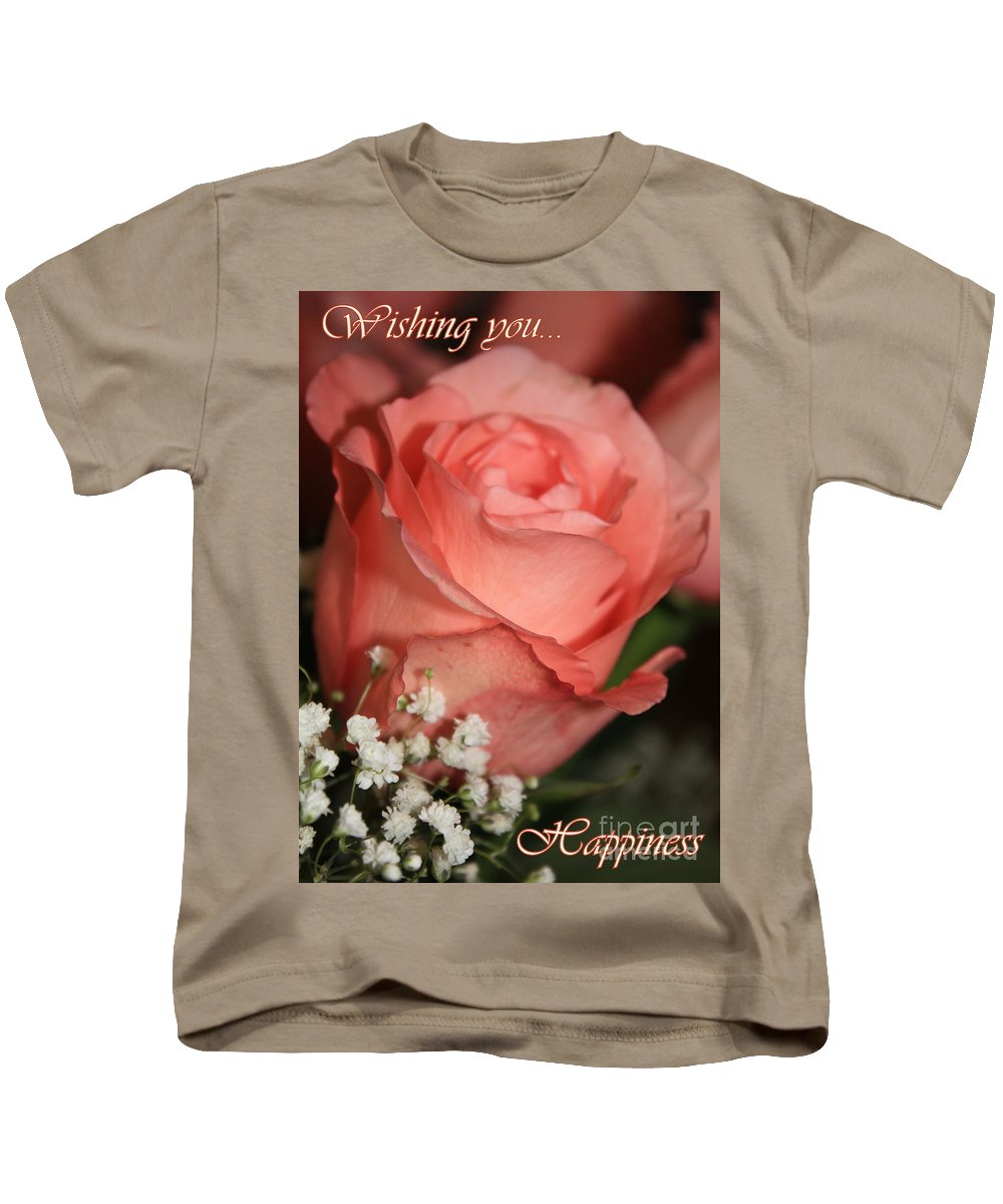 Card Kids T-Shirt featuring the photograph Wishing You Happiness Card by Carol Groenen