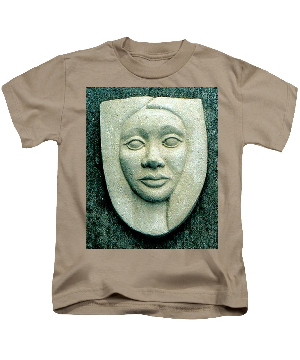 Relief Kids T-Shirt featuring the relief Without Veils by Madalena Lobao-Tello