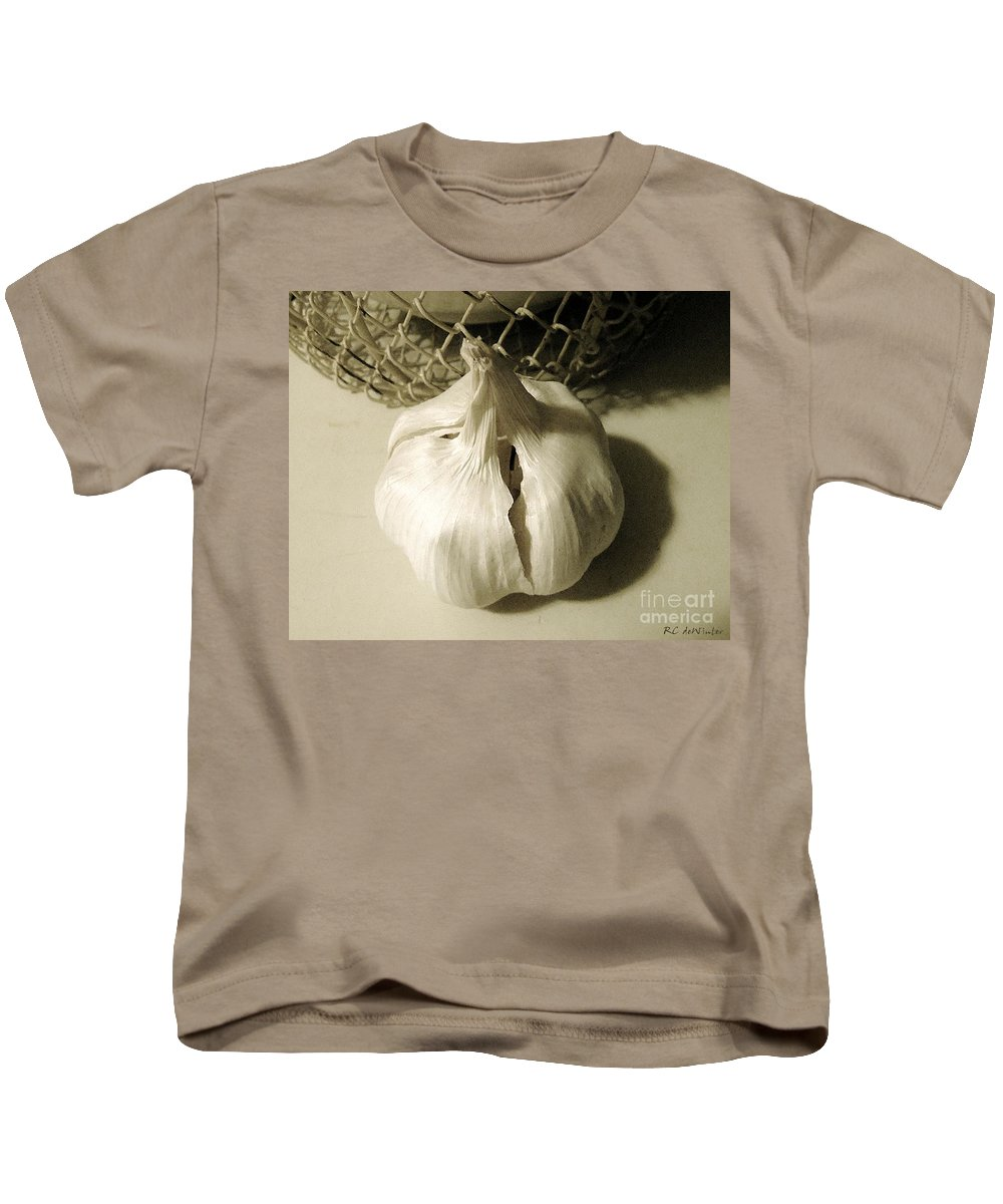 Basket Kids T-Shirt featuring the photograph Without Which No Kitchen Is Complete by RC DeWinter