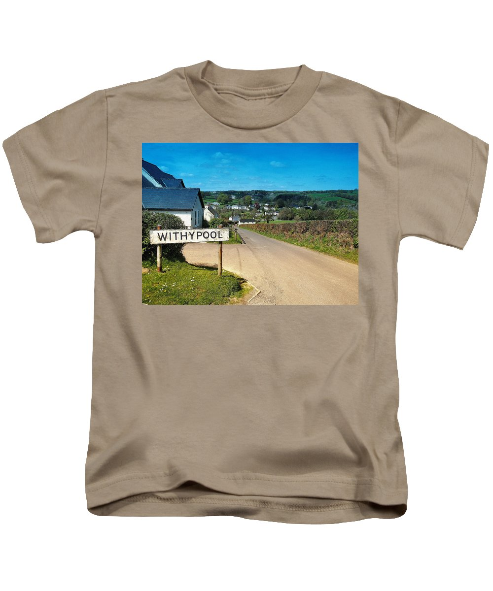 Places Kids T-Shirt featuring the photograph Withypool by Richard Denyer
