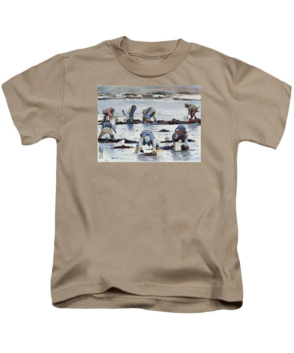 Clam Kids T-Shirt featuring the painting Wnter Clam Diggers by Dan McCole