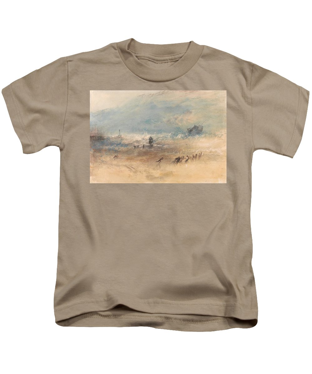 Yarmouth Sands Kids T-Shirt featuring the painting Yarmouth Sands by Grypons Art