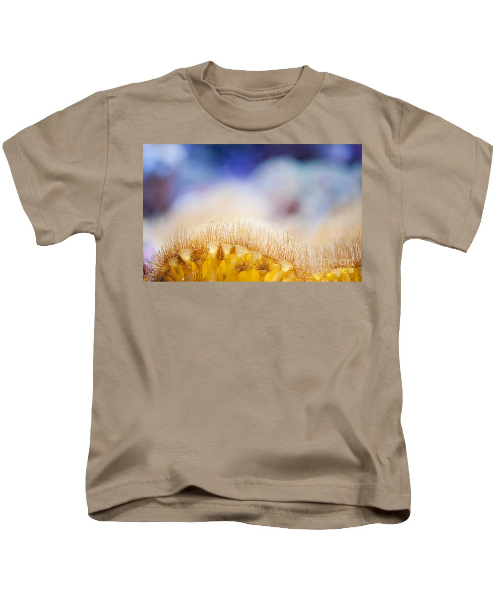 Coral Reef Kids T-Shirt featuring the photograph Yellow Coral Reef Macro by Arletta Cwalina