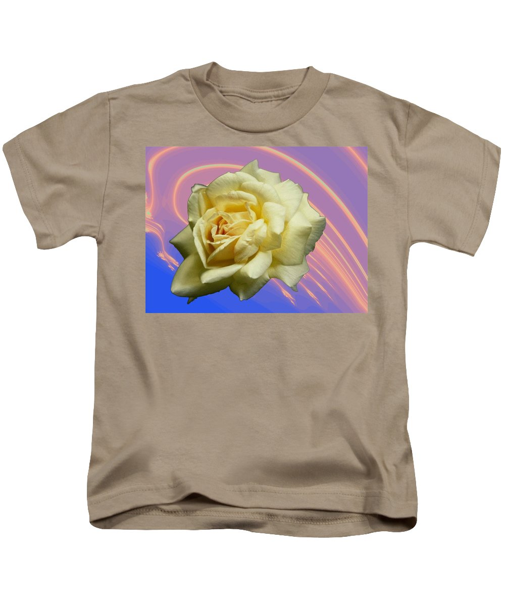 Rose Kids T-Shirt featuring the photograph Yellow Rose 3 by Tim Allen