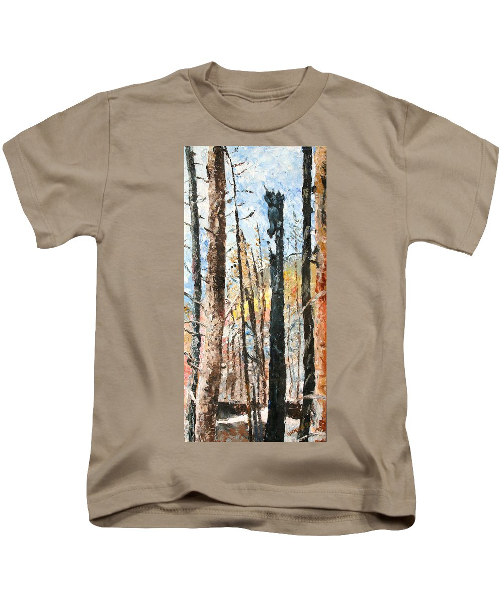Drawing Kids T-Shirt featuring the painting Yellowstone Park by Gideon Cohn
