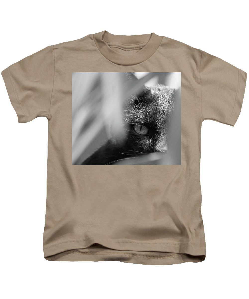 Cat Kids T-Shirt featuring the photograph You're Being Watched... by Daniel Csoka