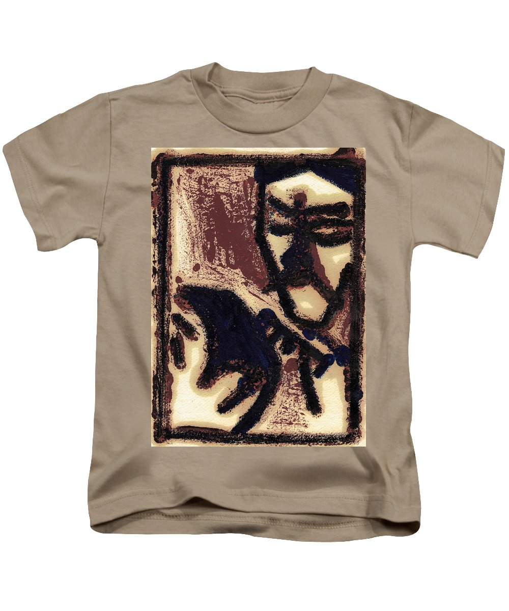Barber Kids T-Shirt featuring the painting After Mikhail Larionov Oil Painting 2 by Edgeworth DotBlog