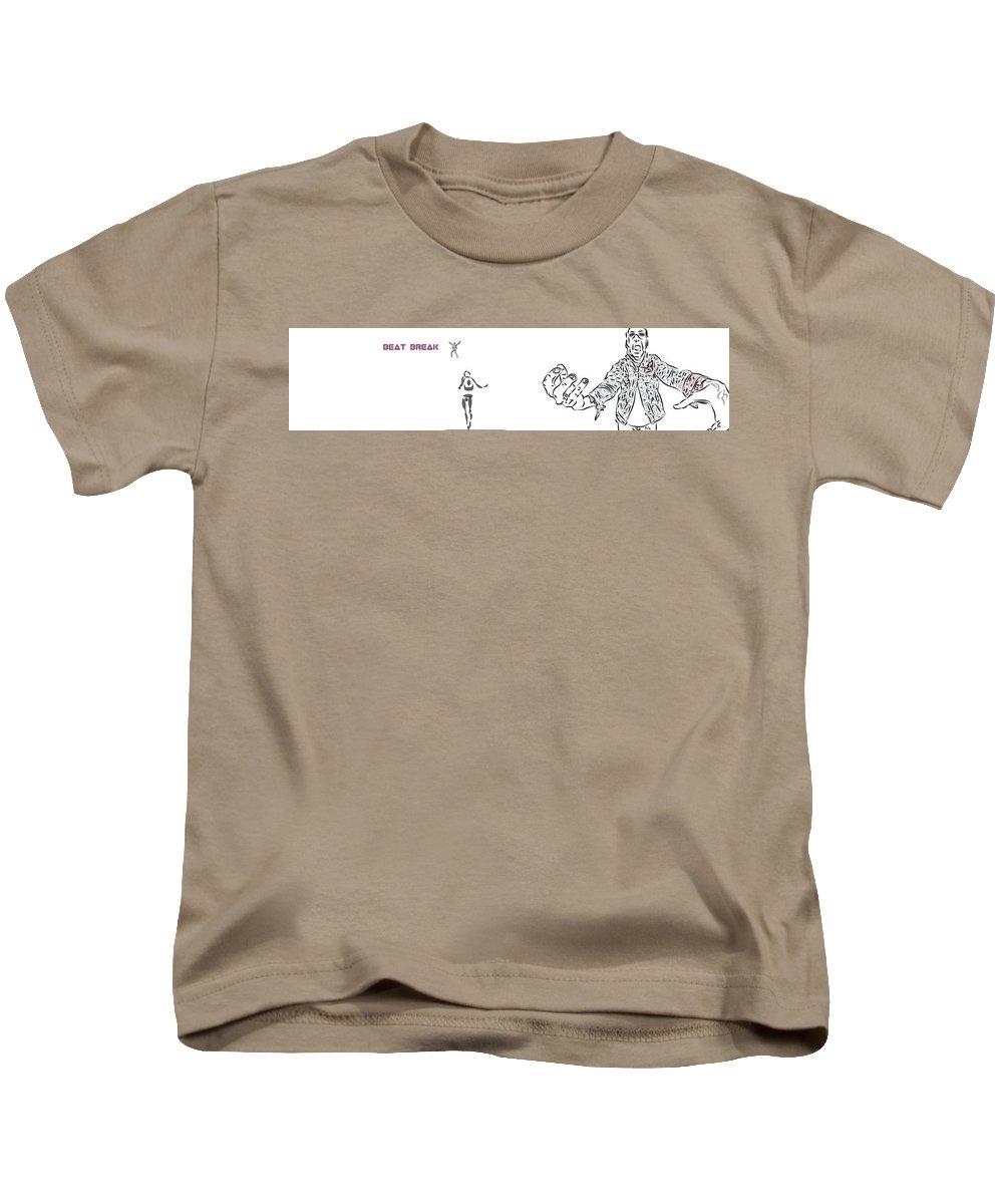 Kids T-Shirt featuring the digital art Beatbreak1 by Brandon Mazer