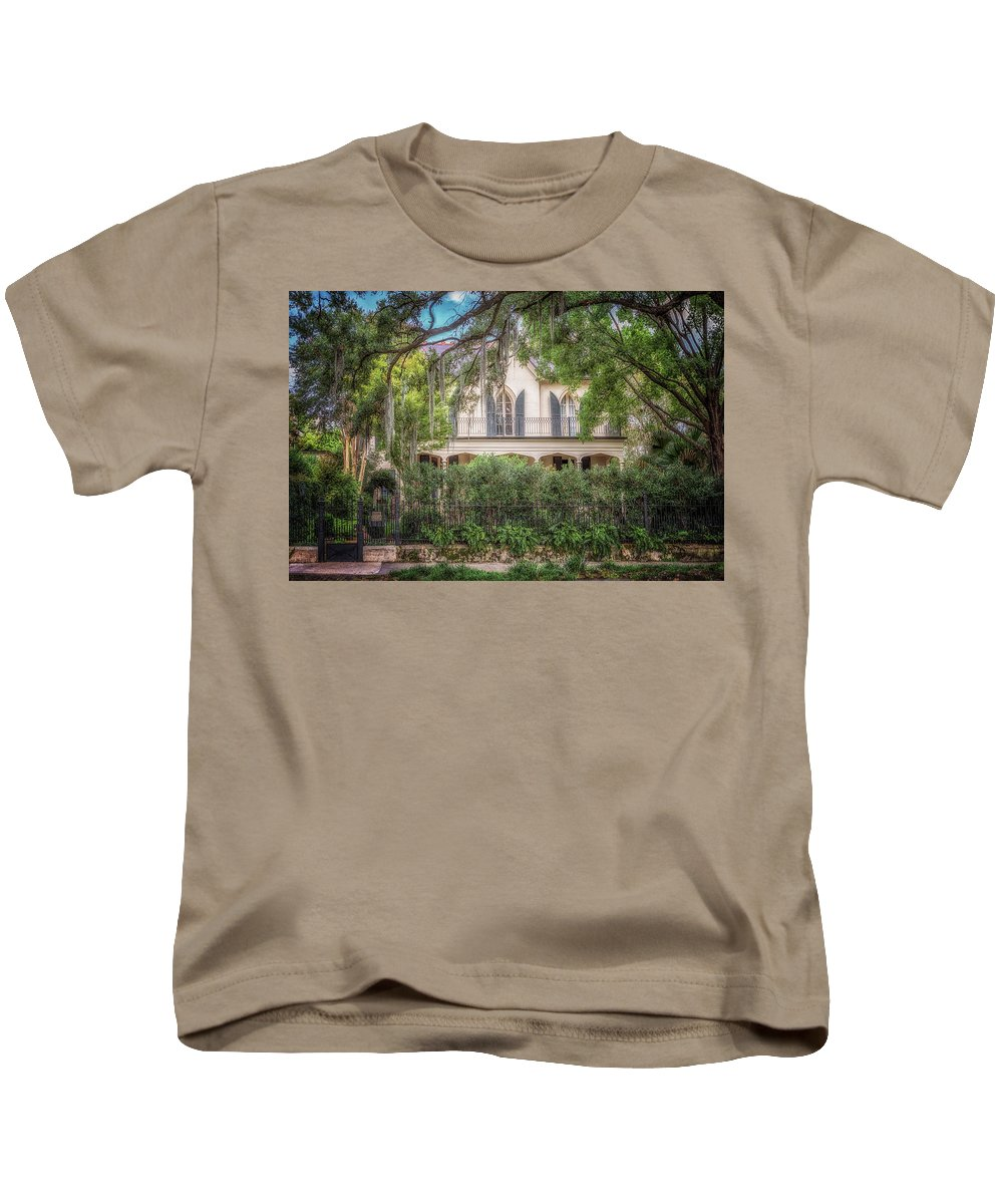 Garden District Kids T-Shirt featuring the photograph Briggs - Staub House by Susan Rissi Tregoning
