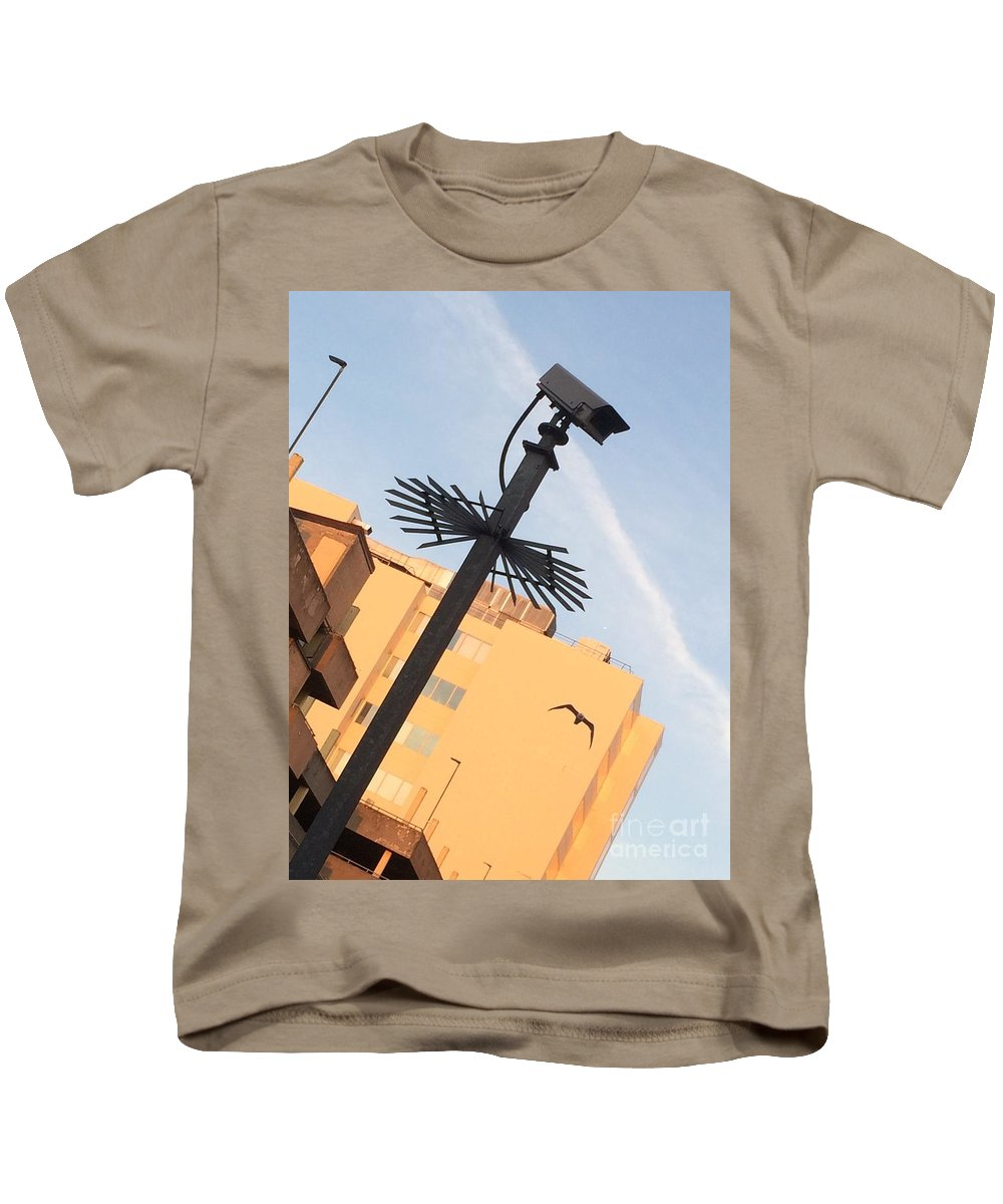 Kids T-Shirt featuring the photograph Buildings At Sunrise by Jordan Butterfield