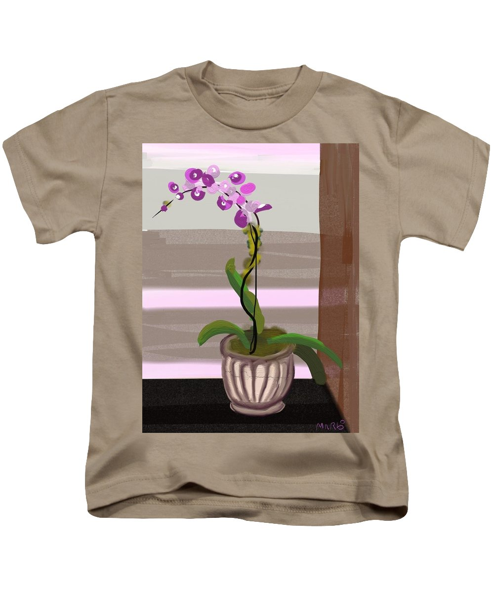 Orchid Kids T-Shirt featuring the digital art Orchid by Marvin Campbell