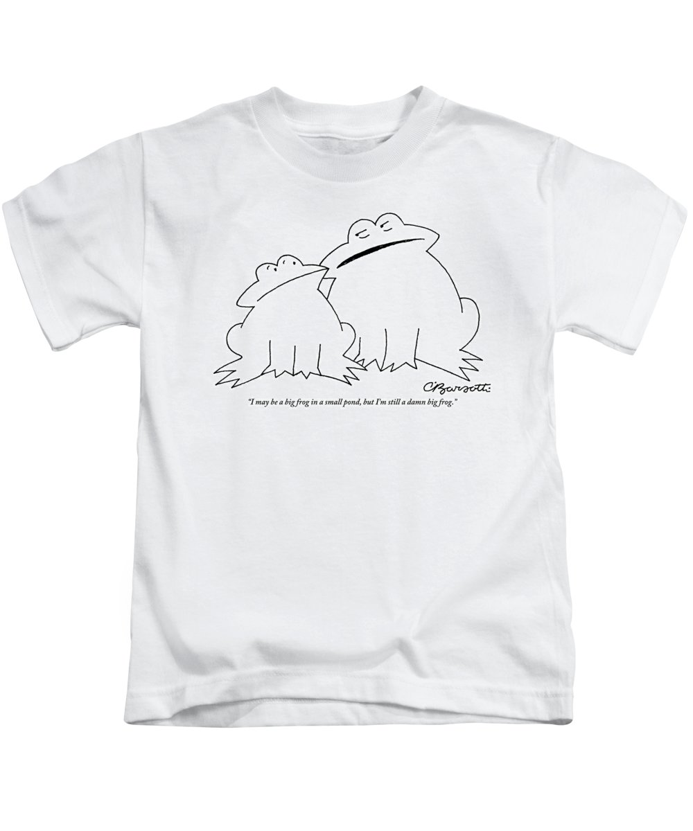 f3f3e3dc A Big Frog Talks To A Smaller Frog Kids T-Shirt for Sale by Charles Barsotti