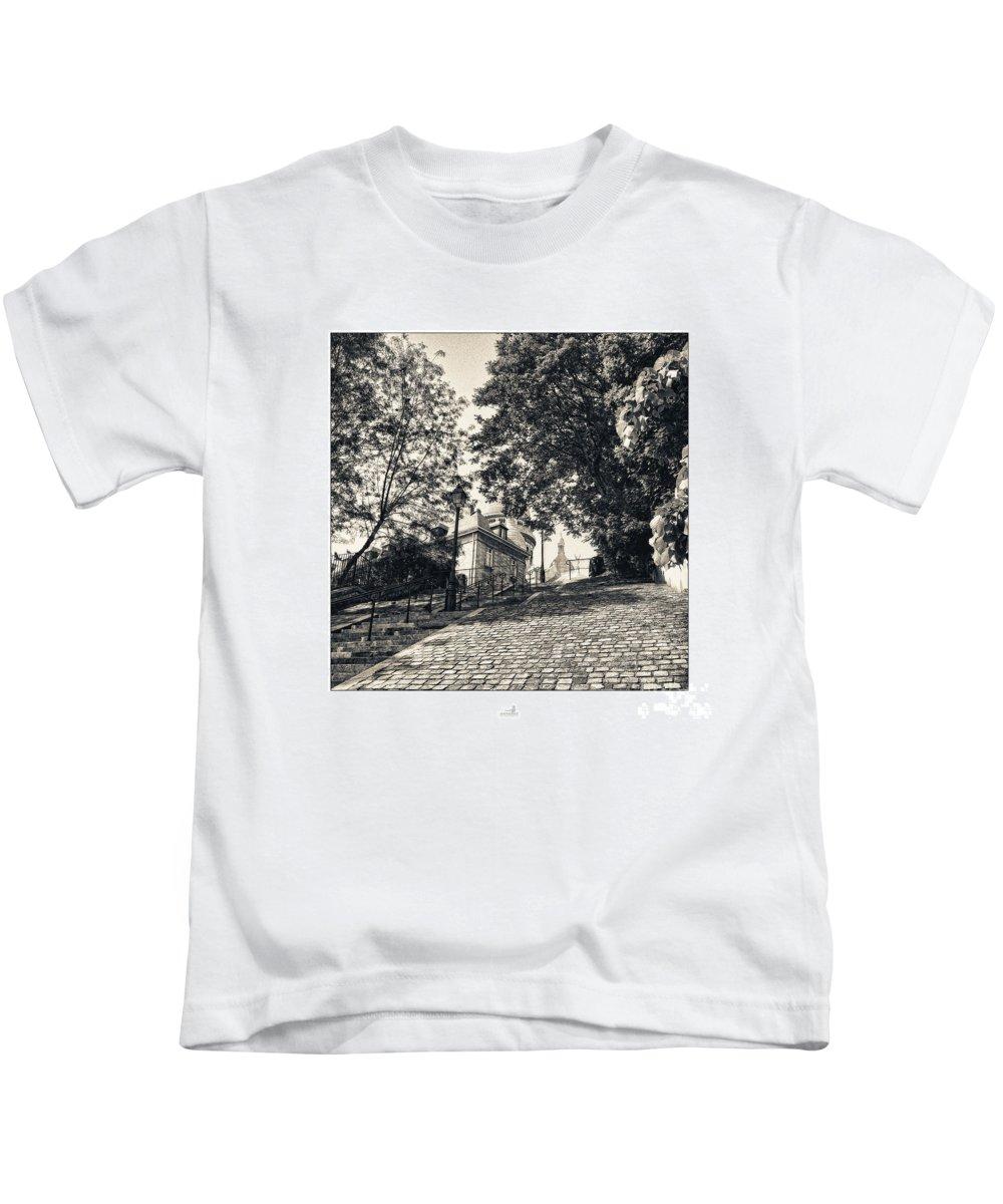 Banister Kids T-Shirt featuring the photograph Paris - Sacre-coeur by ARTSHOT - Photographic Art