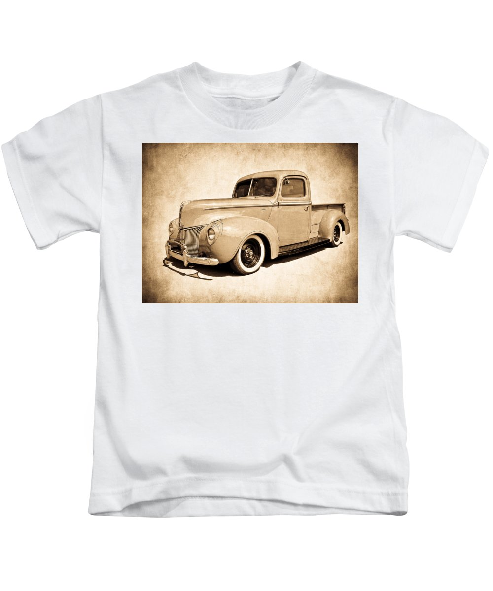 Ford Kids T-Shirt featuring the photograph 1940 Ford Pickup by Steve McKinzie