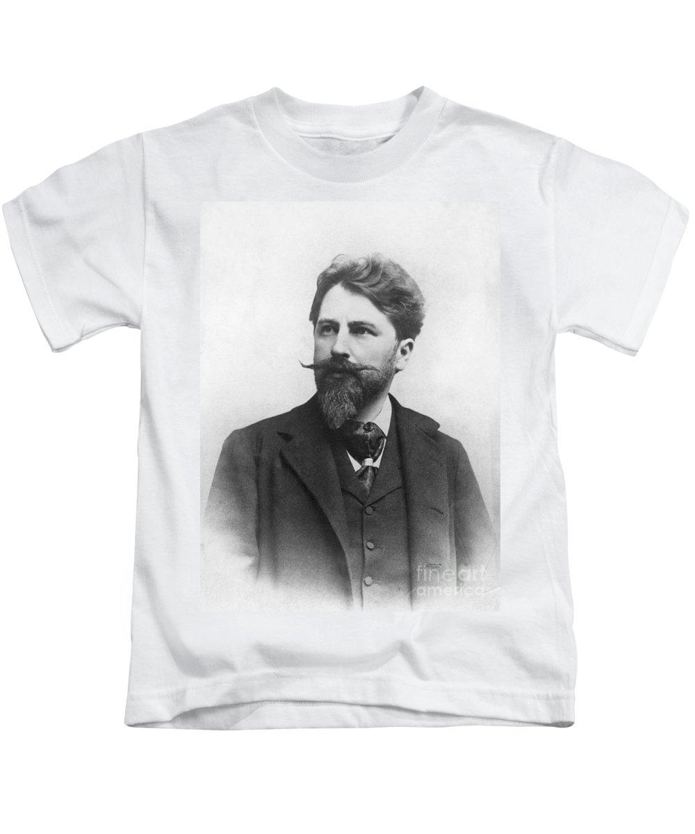 1900 Kids T-Shirt featuring the photograph Arthur Schnitzler by Granger