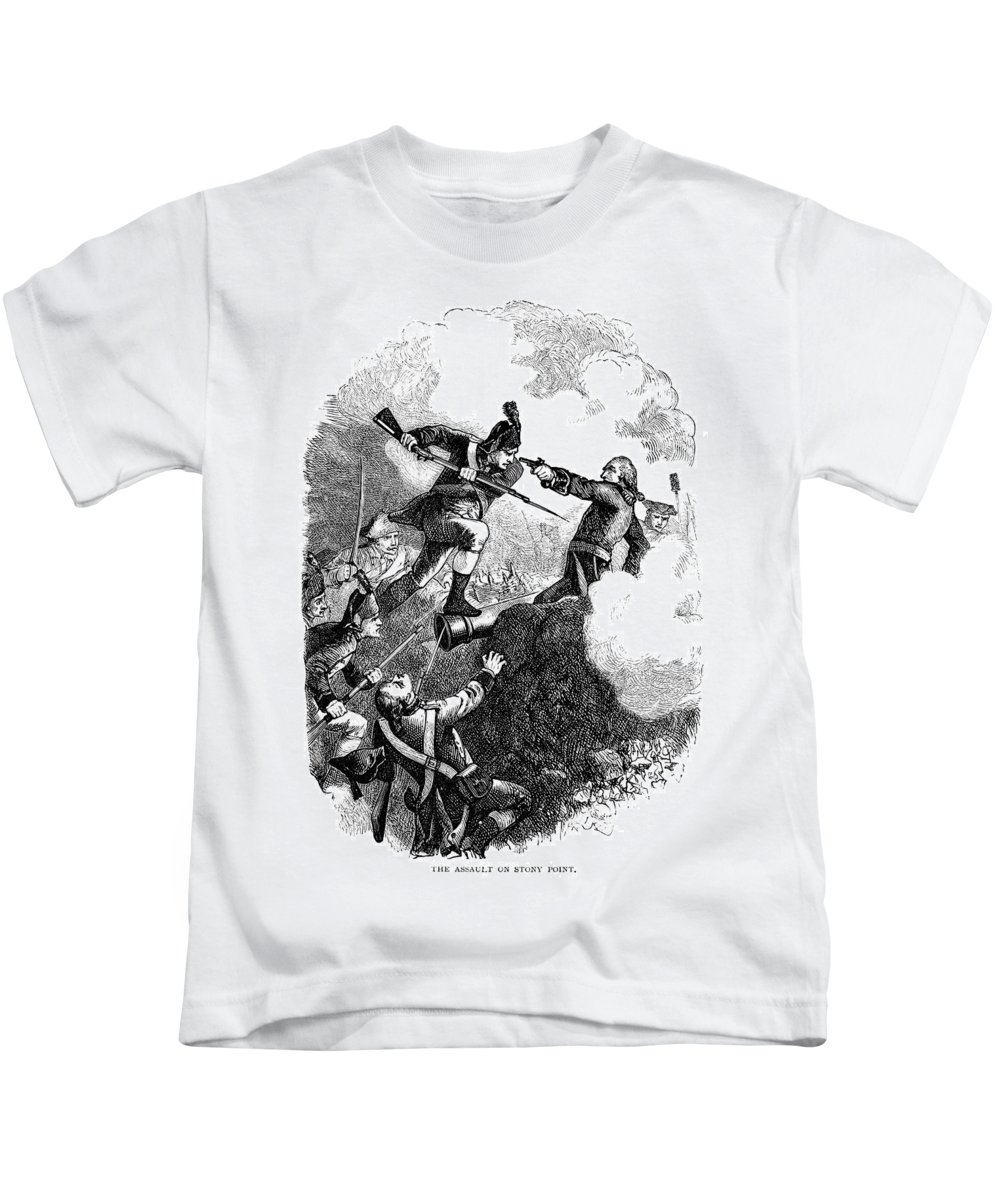 1779 Kids T-Shirt featuring the photograph Battle Of Stony Point, 1779 by Granger