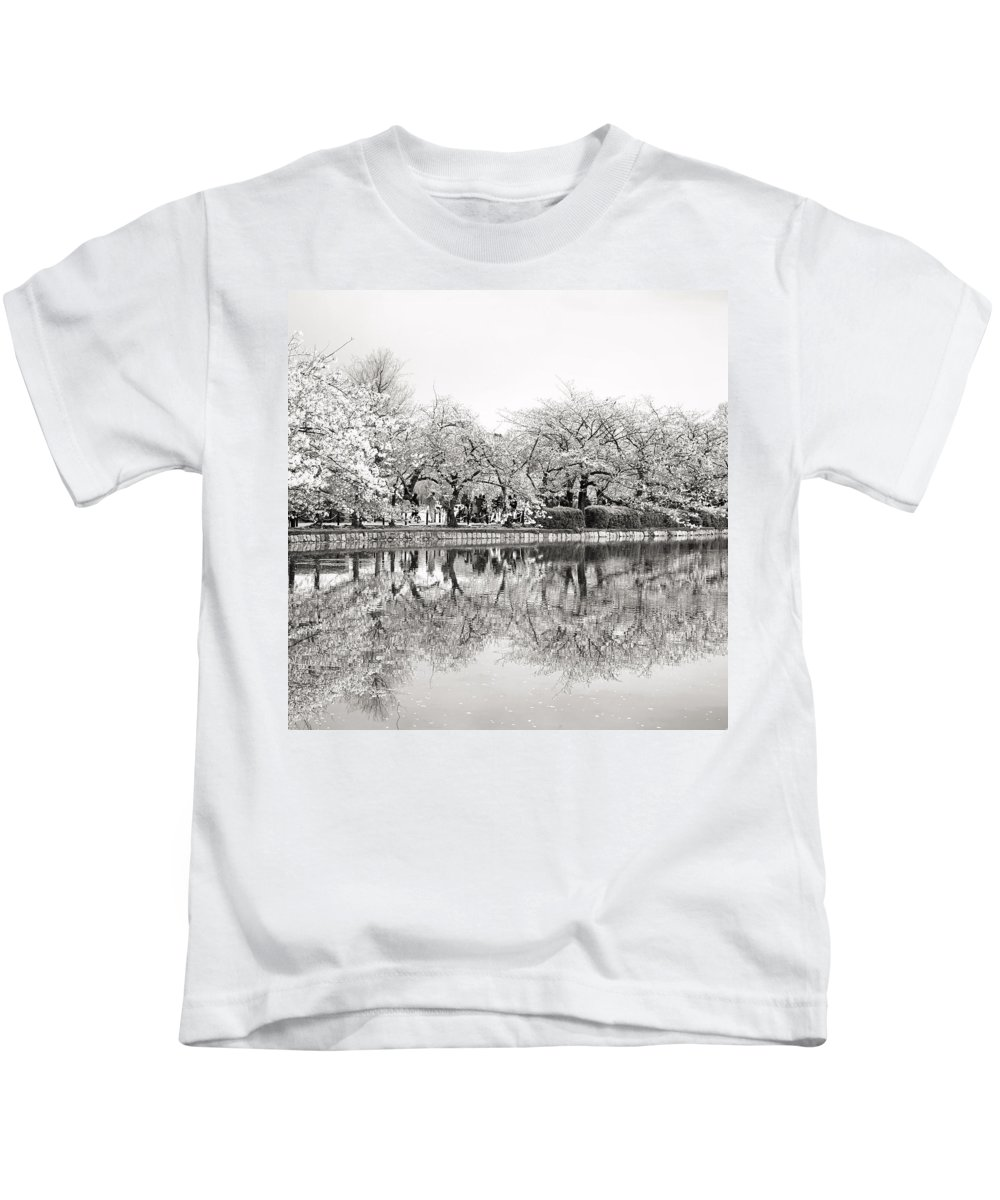 Tokyo Kids T-Shirt featuring the photograph Cherry Blossoms In Tokyo by For Ninety One Days