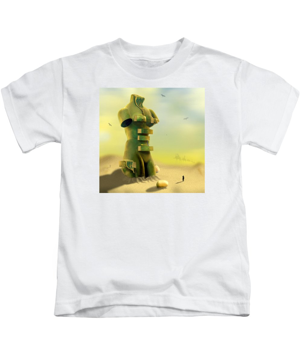 Surrealism Kids T-Shirt featuring the photograph Drawers by Mike McGlothlen