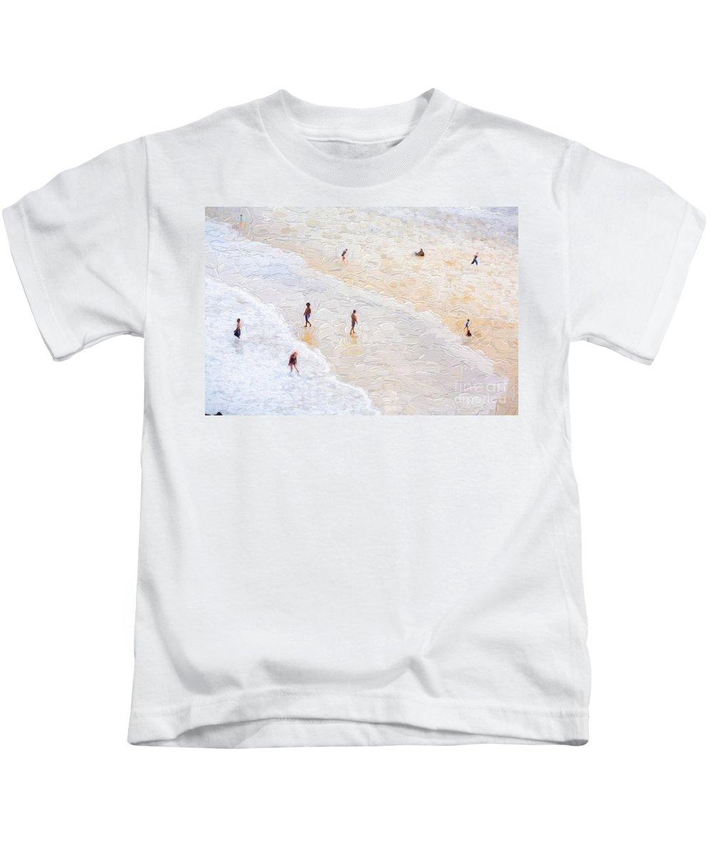 Fingal Beach Kids T-Shirt featuring the photograph Fingal Beach by Sheila Smart Fine Art Photography