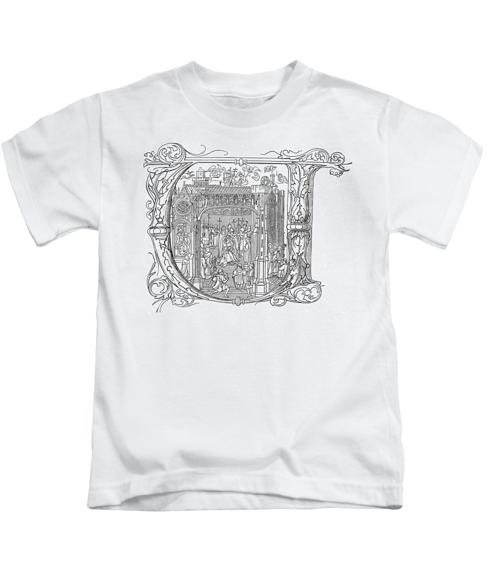 1509 Kids T-Shirt featuring the painting Henry Viii (1491-1547) by Granger