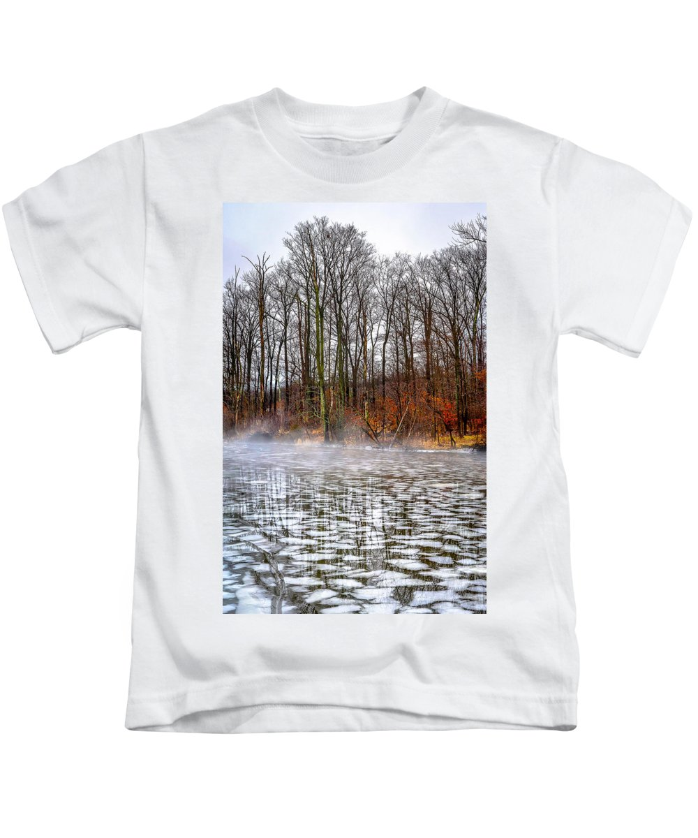 Lake Galena Doylestown Kids T-Shirt featuring the photograph Lake Galena Doylestown by Michael Brooks