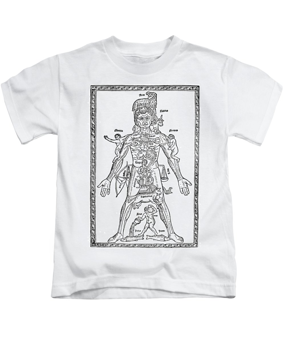 1495 Kids T-Shirt featuring the photograph Man Of Signs, 1495 by Granger