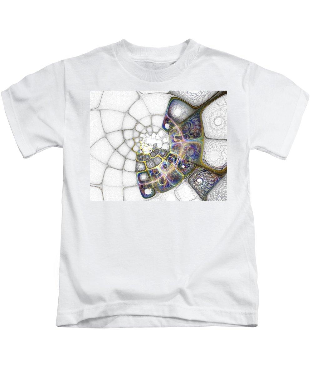 Digital Art Kids T-Shirt featuring the digital art Memories by Amanda Moore