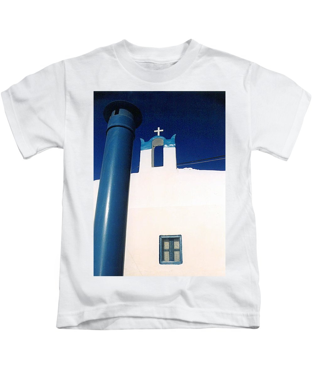 Colette Kids T-Shirt featuring the photograph Santorini Greece by Colette V Hera Guggenheim