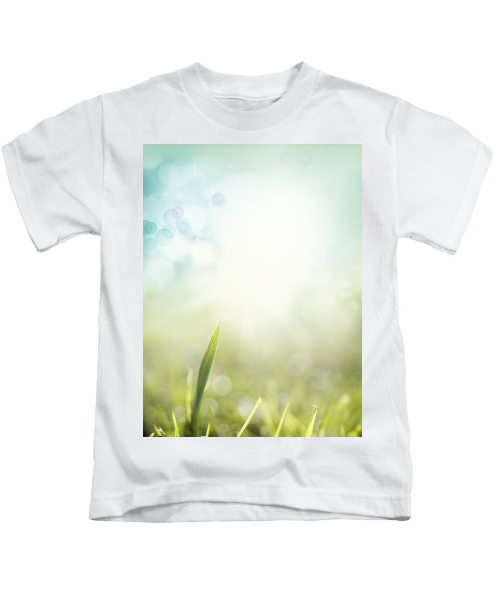 Abstract Kids T-Shirt featuring the photograph Springtime by Les Cunliffe