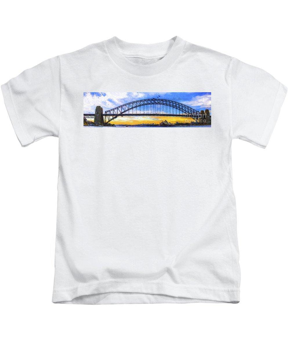 Sydney Harbour Kids T-Shirt featuring the photograph Sydney Harbour by Sheila Smart Fine Art Photography