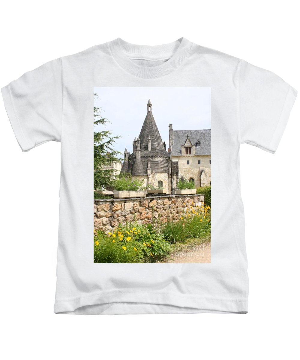 Kitchen Kids T-Shirt featuring the photograph The Kitchenbuilding Of Abbey Fontevraud by Christiane Schulze Art And Photography