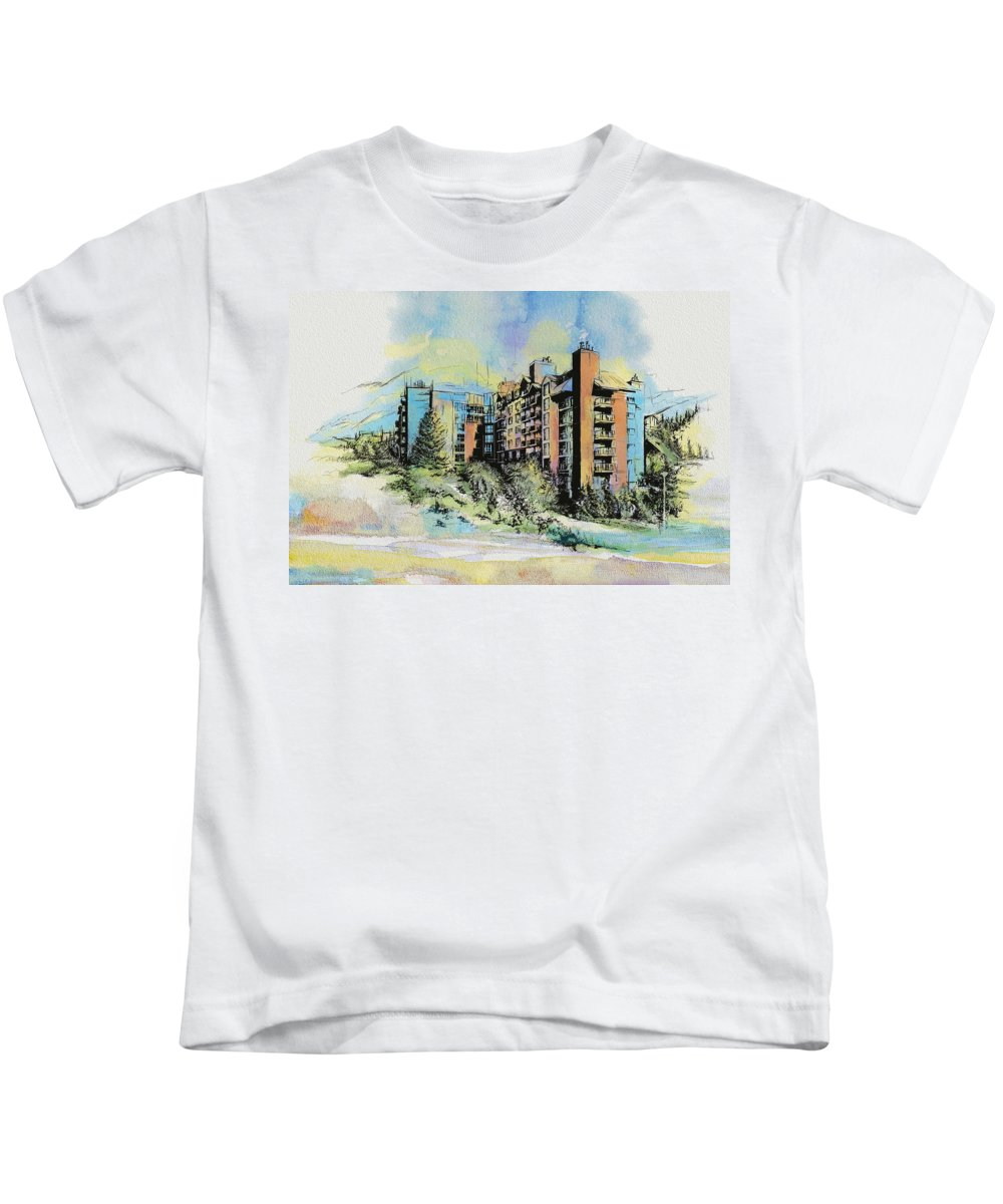 Vancouver Kids T-Shirt featuring the painting Victoria Art by Catf