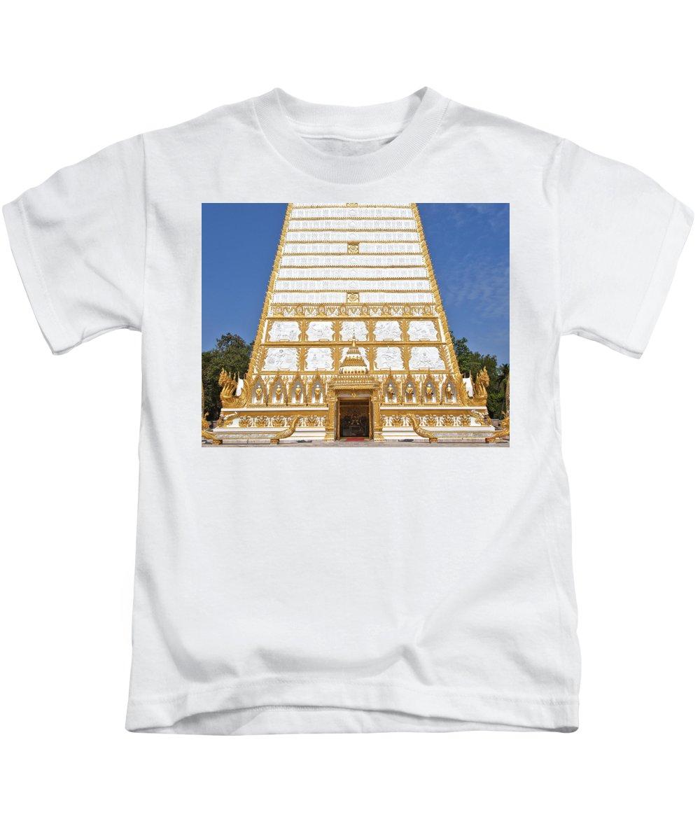 Scenic Kids T-Shirt featuring the photograph Wat Nong Bua Main Stupa Base Dthu453 by Gerry Gantt
