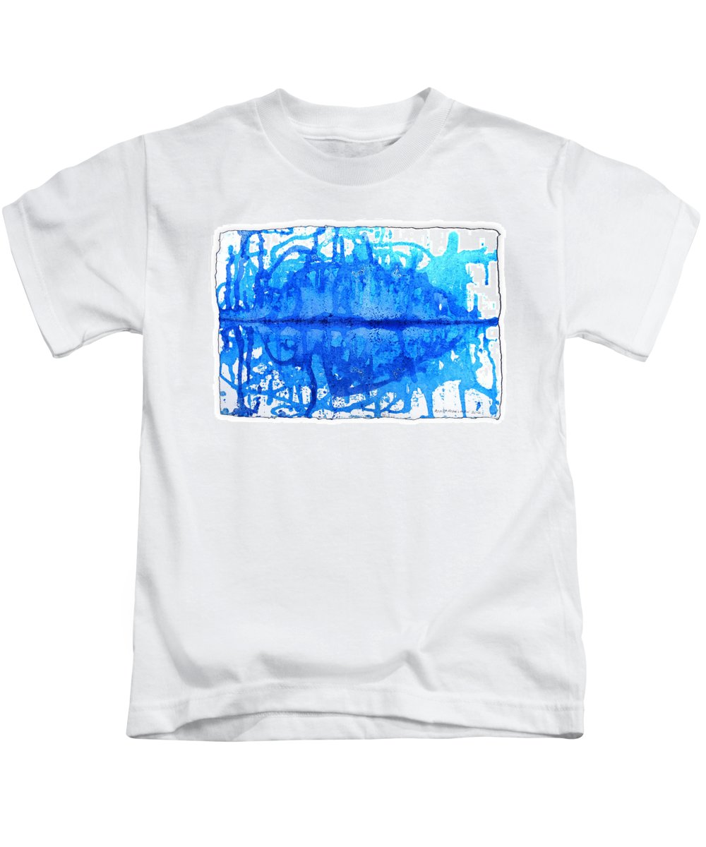 Water Variation Kids T-Shirt featuring the painting Water Variations 14 by Rozita Fogelman