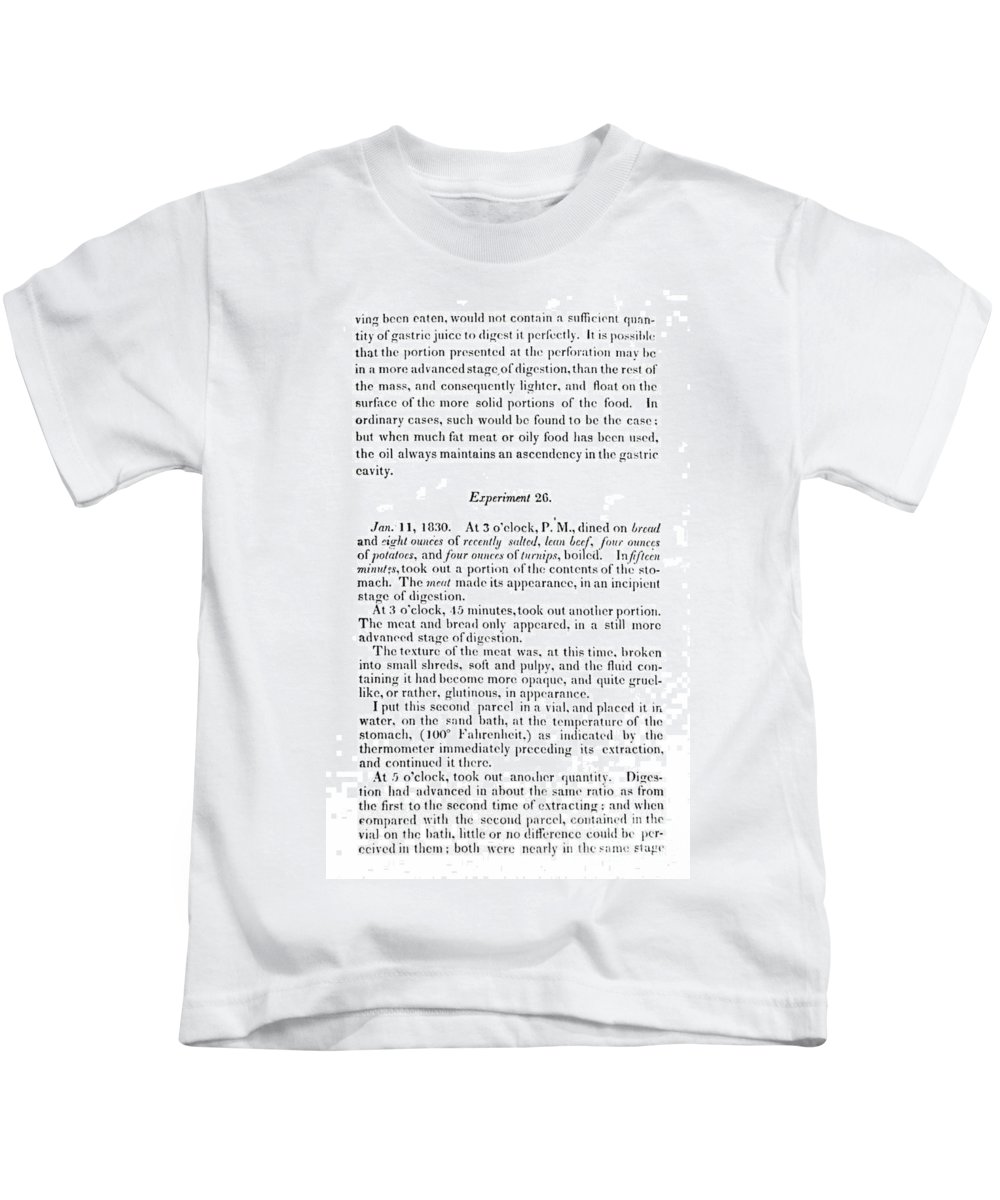 1833 Kids T-Shirt featuring the photograph William Beaumont by Granger