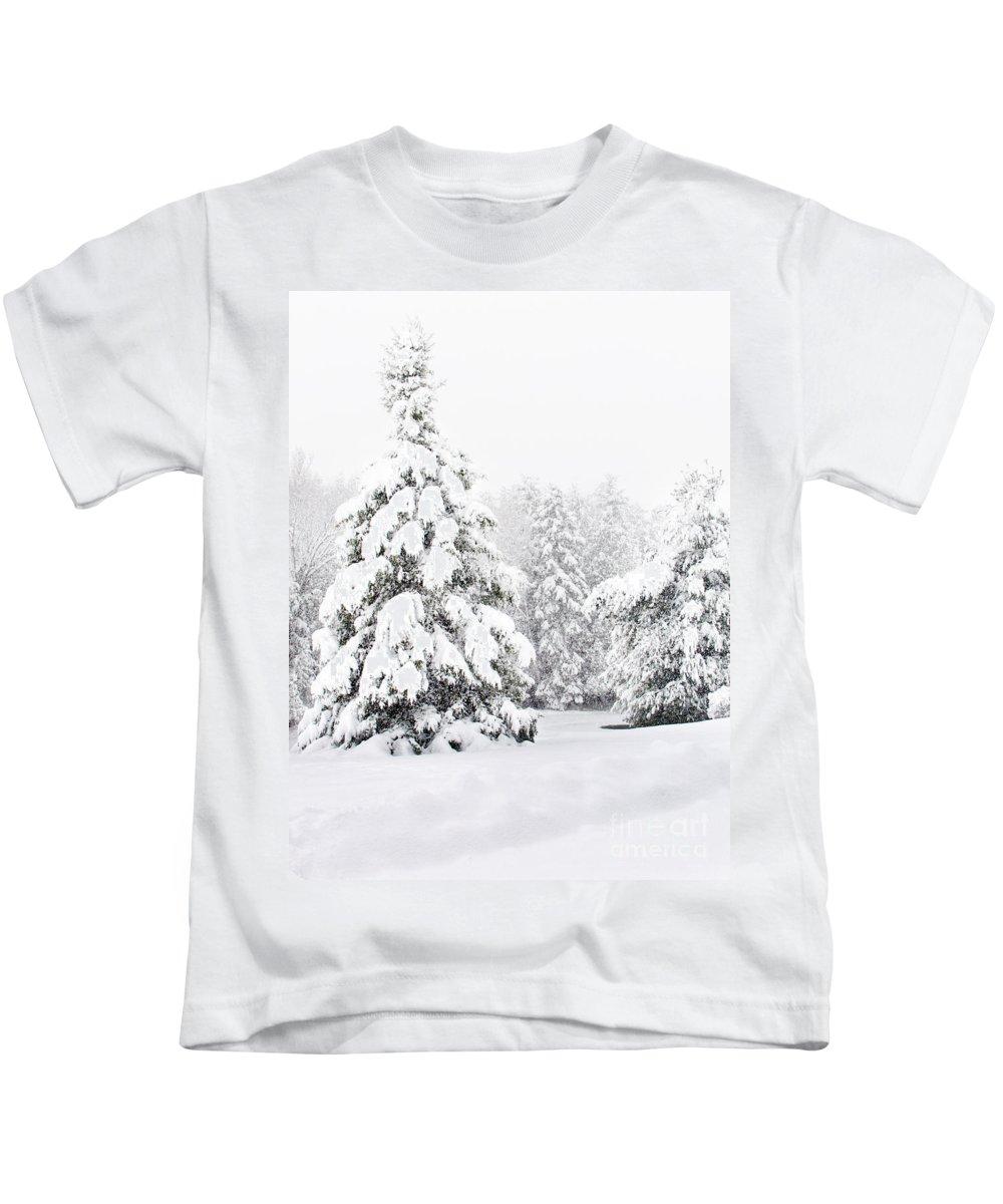 Winter Landscape Kids T-Shirt featuring the photograph Winter Landscape by Gwen Gibson