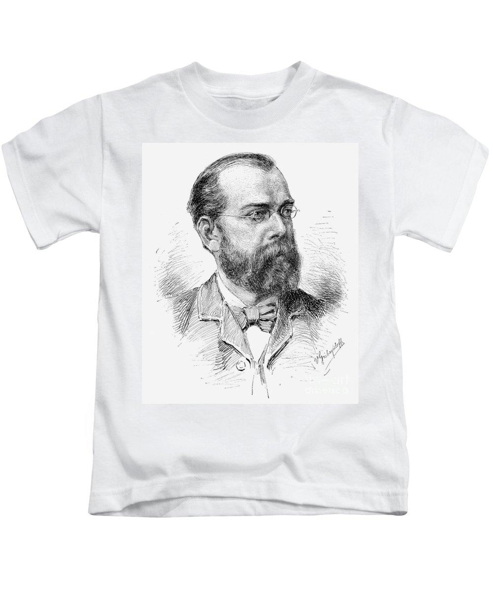 1890 Kids T-Shirt featuring the photograph Robert Koch (1843-1910) by Granger