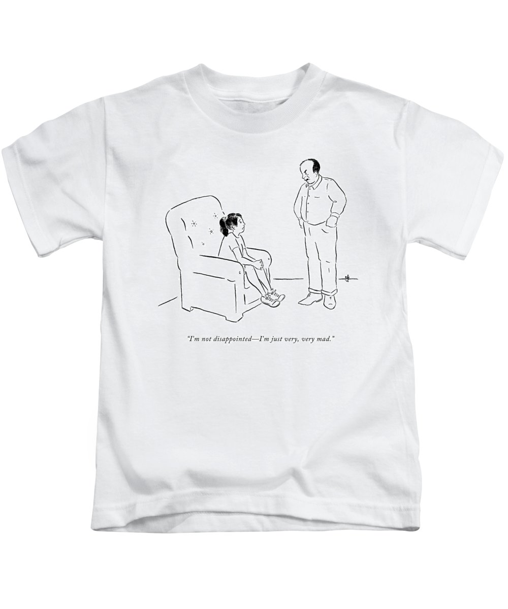 Child Kids T-Shirt featuring the drawing I'm Not Disappointed - I'm by Emily Flake