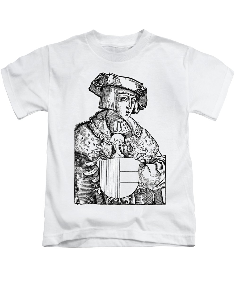 1521 Kids T-Shirt featuring the painting Charles V (1500-1558) by Granger
