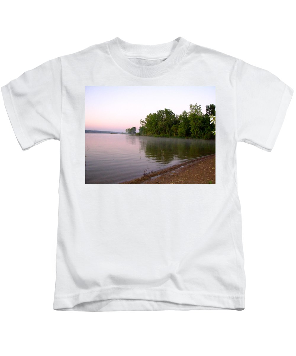 Lake Kids T-Shirt featuring the photograph 1215c by Kimberlie Gerner