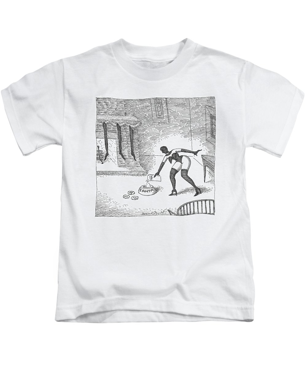 S&m Kids T-Shirt featuring the drawing New Yorker December 25th, 2006 by John O'Brien