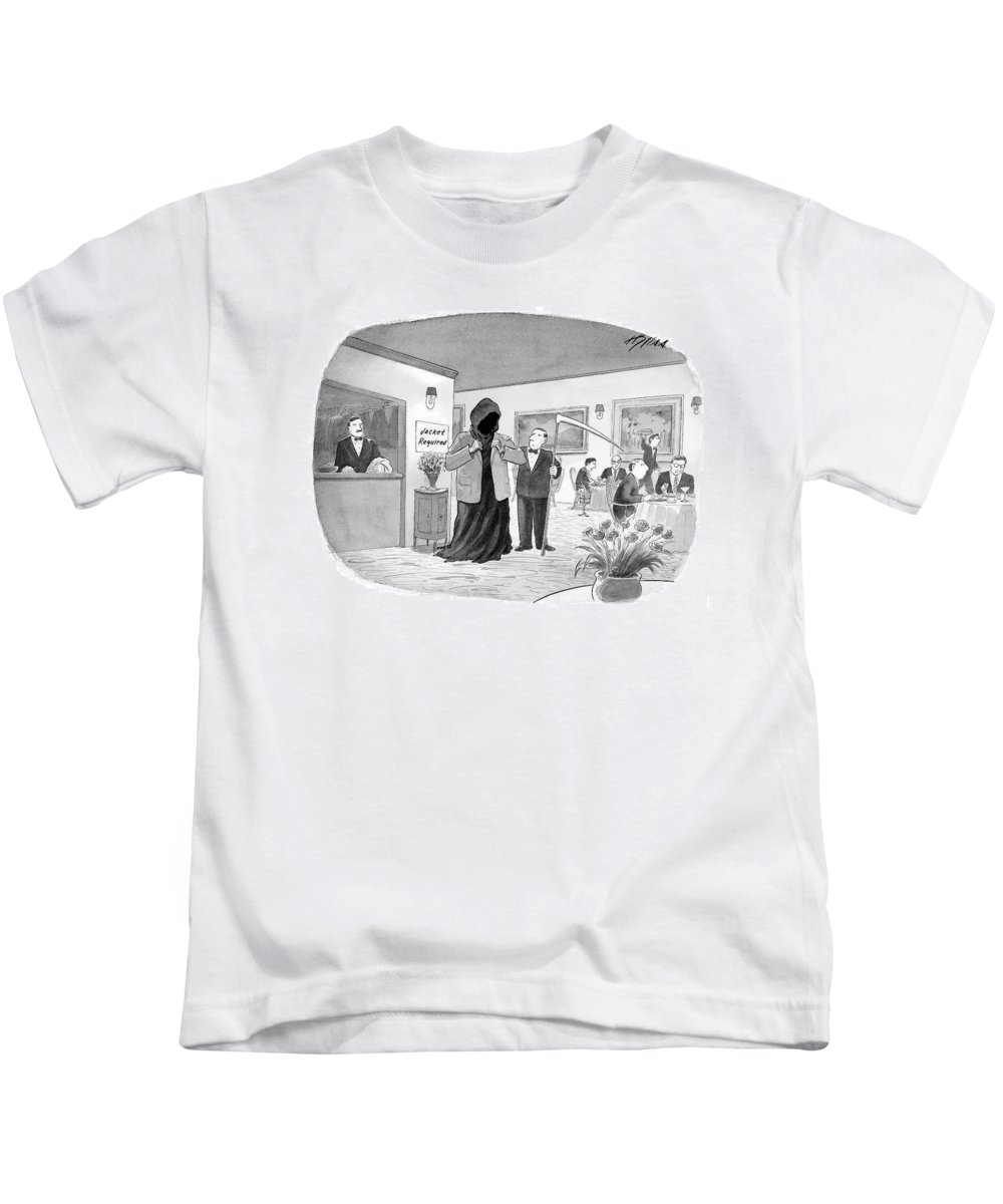 Death Kids T-Shirt featuring the drawing New Yorker September 25th, 2006 by Harry Bliss