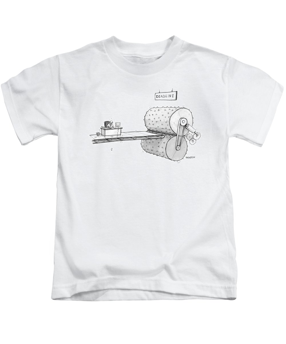 Stress Kids T-Shirt featuring the drawing New Yorker March 12th, 2007 by Jason Patterson