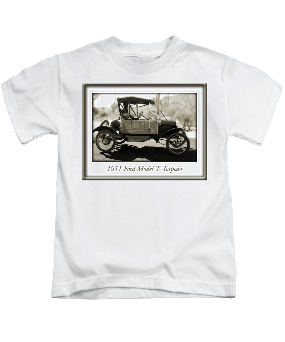 1911 Ford Model T Torpedo Kids T-Shirt featuring the photograph 1911 Ford Model T Torpedo by Jill Reger