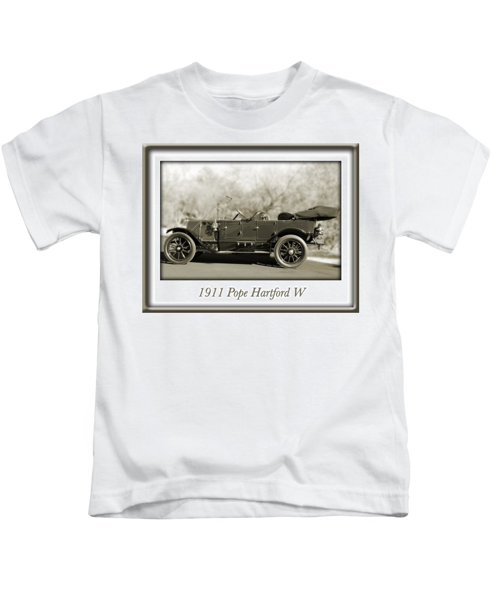 1911 Pope Hartford W Kids T-Shirt featuring the photograph 1911 Pope Hartford W by Jill Reger