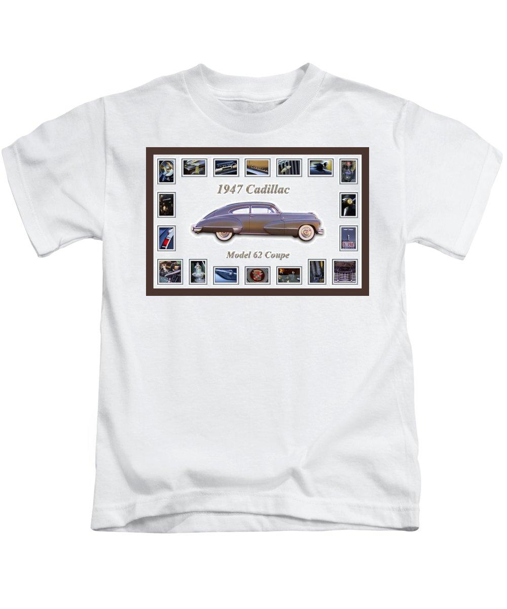 1947 Cadillac Model 62 Coupe Art Kids T-Shirt featuring the photograph 1947 Cadillac Model 62 Coupe Art by Jill Reger